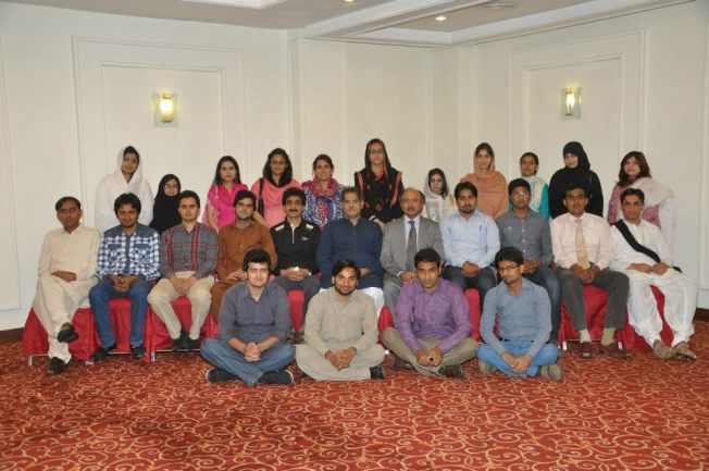 The group with Mr. Sajid Mansoor Qaisrani