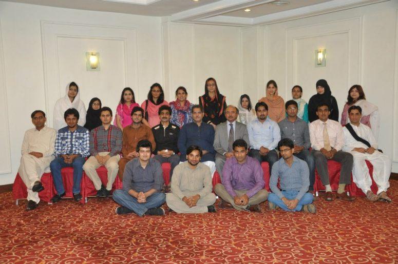 The group with Mr. Sajid Mansoor Qaisrani