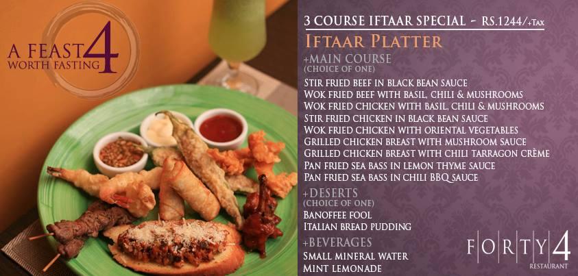 Iftaar/ dinner deal from Forty4