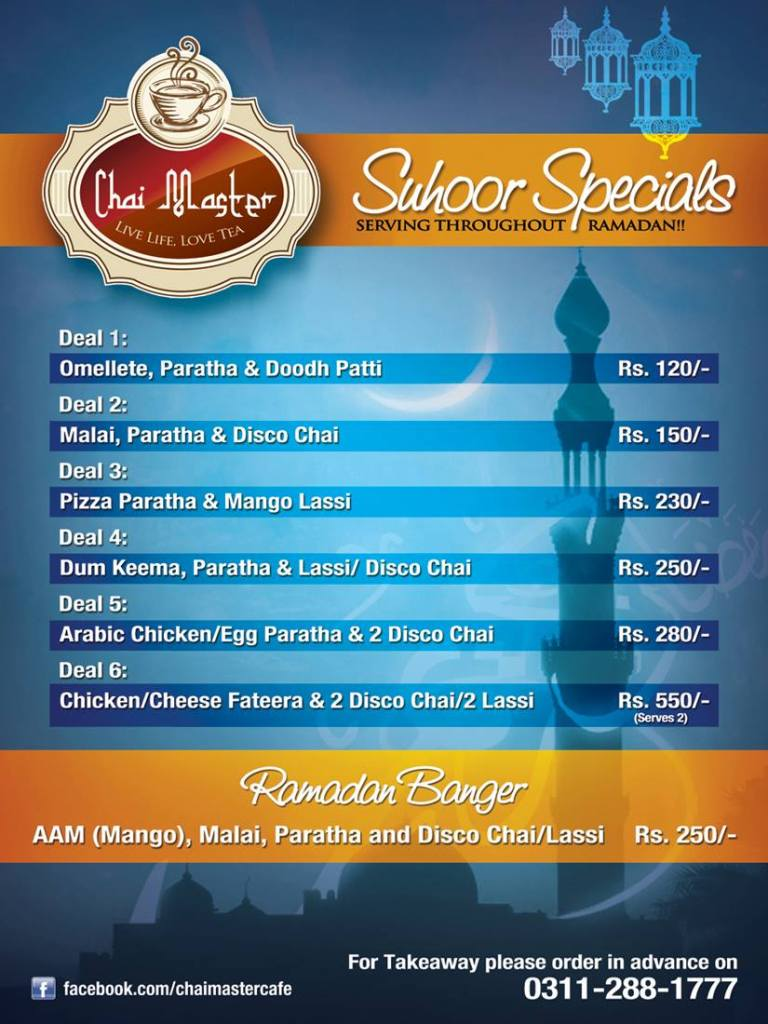 Sehri Deals by Chai Master
