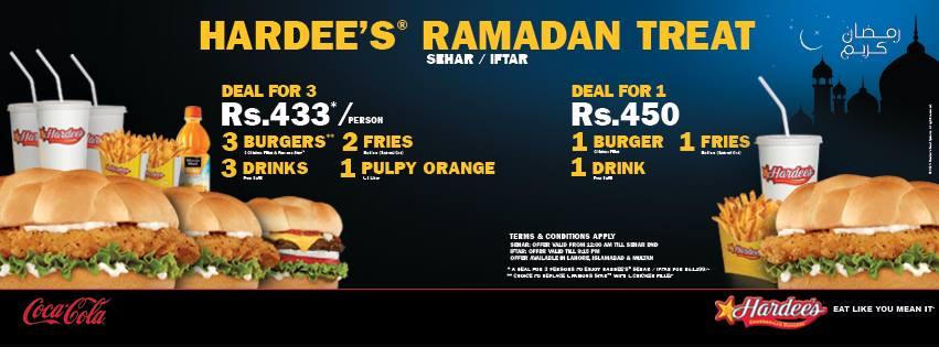 Hardees Ramazan offer