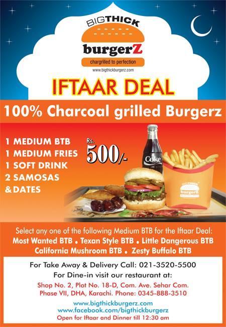 Iftaar at Big Thick Burgerz