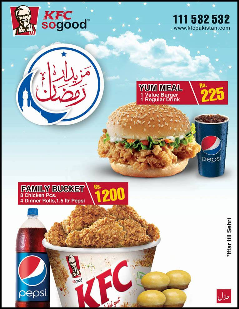 Iftar deal from KFC