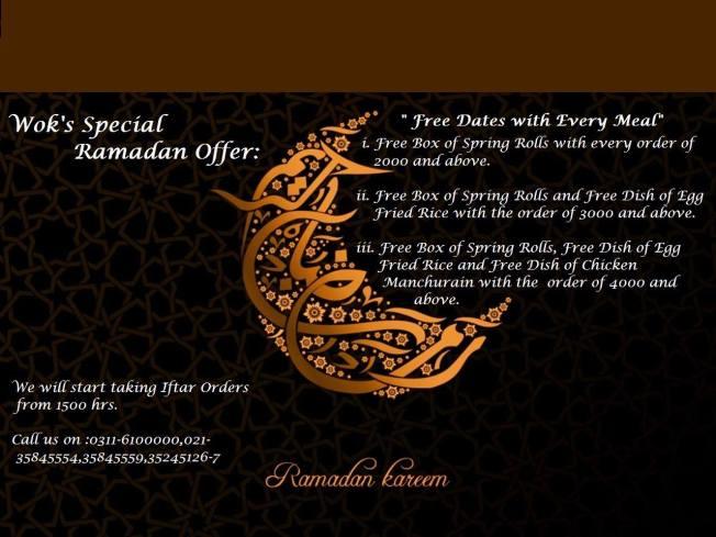 Wok Ramazan deal