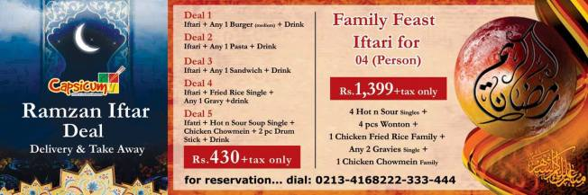 Iftar deals from Capsicum