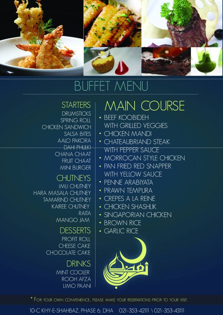 Iftar Buffet from Gon Pacci