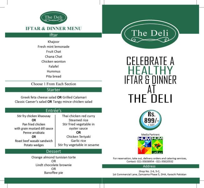 Iftar deal from the deli
