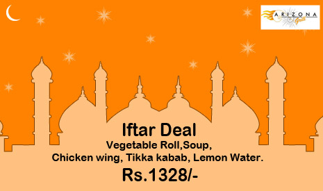 Iftar deal at Arizona Grill