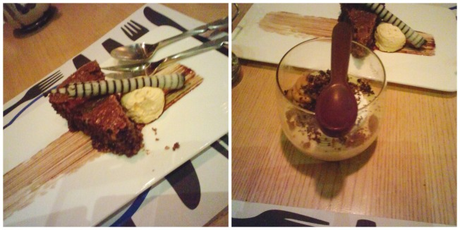 Italian Almond Chocolate Torte. Caramel Budino